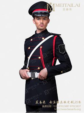 <b>黑色秋季长袖外套男式保安服</b>