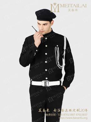 <b>黑色长袖保安服</b>
