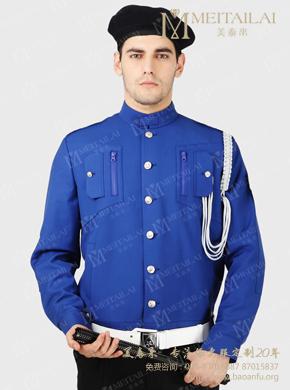<b>男士蓝色保安服</b>
