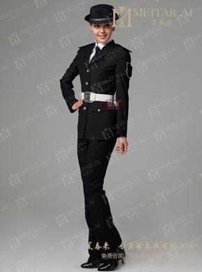 <b>黑色女式制服</b>