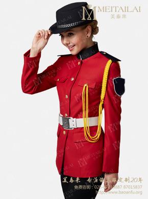 <b>红色长袖保安服</b>