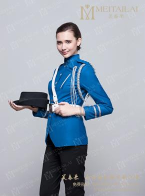 <b>蓝色女式长袖保安服</b>