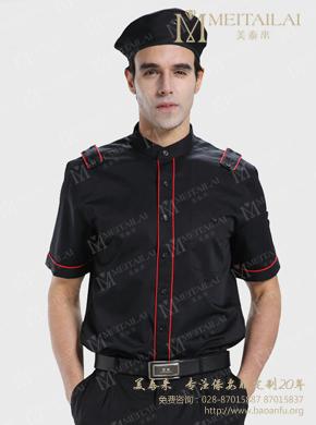 <b>短袖黑色保安西服衬衣</b>