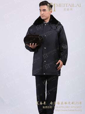 <b>黑色男士保安大衣</b>